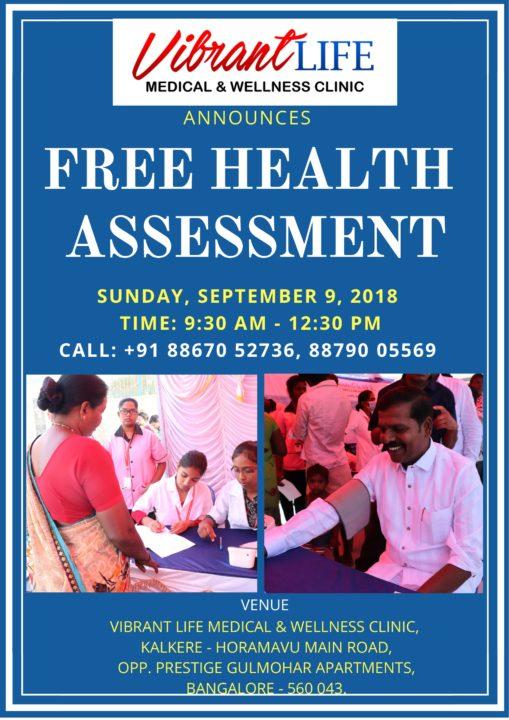 Free health assessment camp - Vibrant Life Medical