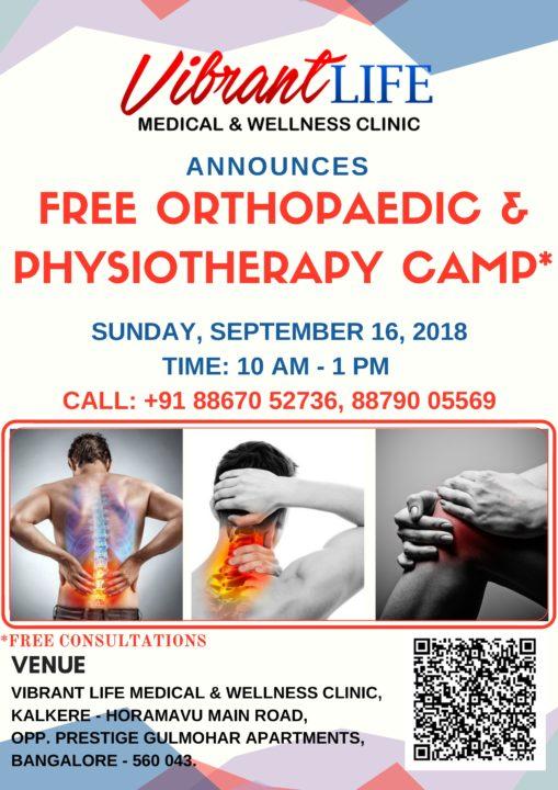 free ortho physio camp - Vibrant Life Medical & Wellness